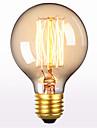 G80 AC 220-240V E27 60W Straight Wire Retro Creative Art Personality Decorative Edison Light Bulb 1PCS