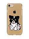 Для Прозрачный С узором Кейс для Задняя крышка Кейс для С собакой Мягкий TPU для AppleiPhone 7 Plus iPhone 7 iPhone 6s Plus/6 Plus iPhone