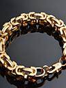 Homme Chaines & Bracelets Mode bijoux de fantaisie Plaque or 18K or Forme Geometrique Bijoux Pour Occasion speciale Anniversaire Regalos