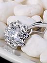 Кулоны Стерлинговое серебро Искусственный бриллиант Цветочный дизайн Любовь Pоскошные ювелирные изделия Бижутерия Для Повседневные 1шт