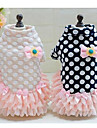 Dog Coat Dog Clothes Cute Casual/Daily Sports Polka Dots Black Blushing Pink