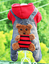 Dog Clothes/Jumpsuit Red Yellow Dog Clothes Winter Spring/Fall Bear Cute Casual/Daily