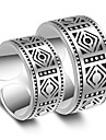 Ring Wedding Party Vintage Jewelry Platinum Plated Couple Rings 1 pair Adjustable Silver
