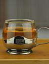 Прозрачный Стаканы, 150 ml Теплоизолированные Украшение Нержавеющая сталь Стекло Сок Молоко Кофейные чашки