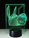 3d kreative Persoenlichkeit bunte Note LEDNightlight