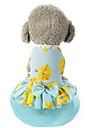 Собаки Платья Одежда для собак Лето Принцесса Милые На каждый день Светло-синий