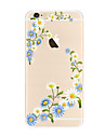 Para Transparente Estampada Capinha Capa Traseira Capinha Flor Macia TPU para AppleiPhone 7 Plus iPhone 7 iPhone 6s Plus iPhone 6 Plus