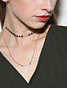 Femme Collier court /Ras-du-cou Pendentif de collier Bijoux Forme de Cercle Alliage Original Simple Style Multicouches Fait a la main