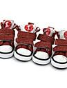 Dog Shoes & Boots Sports Fashion Plaid/Check Cotton PU Leather