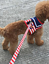 Cat Dog Harness Leash Adjustable/Retractable Running Training Stripe Red Blue Pink Fabric Sponge