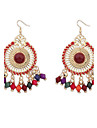 Drop Earrings Jewelry Circular Unique Design Vintage Alloy Round Jewelry For Party Daily Casual 1 pair