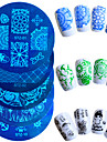 1pcs Hot Sale Nail Art Stamping Plate Fashion Design Colorful Butterfly Flower Lovely Design Manicure Stencils STZ-01-10