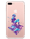 Pour Transparente Motif Coque Coque Arriere Coque Dessin Anime Flexible PUT pour AppleiPhone 7 Plus iPhone 7 iPhone 6s Plus iPhone 6 Plus