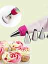 7Pcs/Set  Double Color Tube Converter With 5 Nozzles Adaptor 1 Cream Bag Fondant Cake Mold Baking Decorating Tools