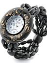 Mujer Reloj de Moda Reloj Pulsera Cuarzo Madera Banda Bohemio Negro Negro