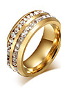 Ring Circle Steel Round Gold Black Silver Jewelry For Daily 1pc