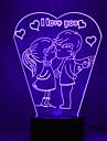Noel, amour, touche, gradation, 3D, conduit, nuit, lumiere, 7colorful, decoration, atmosphere, lampe, nouveaute, eclairage, noel, lumiere