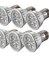 YouOKLight 6PCS E26/E27 4W 360LM AC85-265V 4-LEDs Cold White 6000K Dimmable Spotlight Bulb Lamp