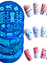 1pcs venda moda nail art carimbo de placa quente bela flor da borboleta do coracao cartoon linda stencils projeto manicure para polones