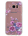 Pour samsung galaxy s8 plus s8 housse de protection transparent pattern back cover case fleur doux tpu pour s7 bord s7 s6 bord s6 s5 mini