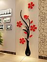 Noel Romance Floral Stickers muraux Autocollants muraux 3D Autocollants muraux decoratifs,Vinyle Materiel Decoration d\'interieurCalque