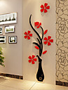 Natal Romance Floral Adesivos de Parede Autocolantes 3D para Parede Autocolantes de Parede Decorativos,Vinil Material Decoracao para casa
