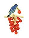 여성 브로치 베이직 디자인 의상 보석 합금 보석류 제품 캐쥬얼