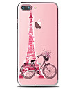 Pour iPhone X iPhone 8 iPhone 8 Plus Etuis coque Transparente Motif Coque Arriere Coque Tour Eiffel Flexible PUT pour Apple iPhone X