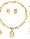 Набор украшений Серьги / Браслет Ожерелье / кольцо Мода Euramerican Стразы Сплав 1 ожерелье 1 пара сережек 1 браслет Кольца ДляСвадьба