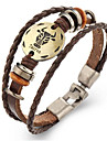 Unsex Vintage Taurus Weave Leather Bracelet   Jewelry For Daily 1 pc
