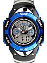 Дети Спортивные часы электронные часы LCD С двумя часовыми поясами Кварцевый Цифровой Группа Черный