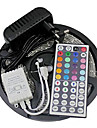Z®ZDM Waterproof 5M 150X5050 SMD RGB LED Strip Light and 44Key Remote Controller and 3A EU/US/UK Power Supply (AC110-240V)