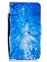 For Samsung Galaxy A3 A5 (2017) Case Cover Blue Woods Pattern Painted Card Stent PU Material Phone Case A5 (2016)