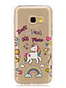 For Samsung Galaxy A5(2016) A3(2016) Unicorn Pattern Case Back Cover Case  Soft TPU for Samsung Galaxy A3(2017) A5(2017)