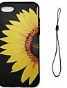Для яблока iphone 7 7 плюс 6s 6 плюс se 5s 5 крышка корпуса цветок подсолнуха шаблон впрыскивания облегчение обшивка кнопка толще тпу