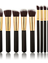 10pcs Contour Brush Makeup Brush Set Blush Brush Eyeshadow Brush Brow Brush Concealer Brush Powder Brush Foundation Brush Synthetic Hair