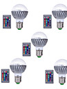 5pcs 3W E27 High quality RGB LED Bulb Color Changeable RGB LED Lamp With IR Remote Control for Home and KTV AC85-265V