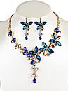 Femme Boucles d\'oreille goutte Collier Cristal Original Pendant Fleur Mode euroamericains Afrique bijoux de fantaisie Cristal Alliage