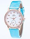 아가씨들 패션 시계 손목 시계 석영 라인석 합금 밴드 캐쥬얼 블랙 화이트 블루 레드 골드 핑크 퍼플 로즈