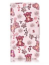 For iPhone 7 Plus 7 Bear Pattern Varnishing Process Embossed PU Leather Material Phone Case 6S Plus 6S 6 5S SE 5