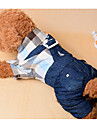 Dog Clothes/Jumpsuit Dog Clothes Casual/Daily Fashion Plaid/Check Dark Blue
