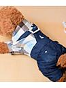 Chien Combinaison-pantalon Vetements pour Chien Decontracte / Quotidien Mode Tartan Bleu de minuit