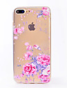 For IMD Transparent Case Back Cover Case Pink Roses Soft TPU for Apple iPhone 7 Plus 7 6s Plus 6 Plus  6s  6 SE 5S 5