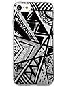 아이폰 7 플러스 7 케이스 커버 투명 패턴 뒷면 커버 케이스 기하학적 패턴 타일 라인 / 파도 소프트 tpu iphone 6splus 6plus 6s 6 se 5 5s