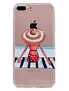 Para iphone 7 mais 7 capas de capa ultra-finas transparente padrao capa de capa maiuscula suave tpu para 6s mais 6 mais 6 se 5s 5