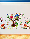 Butterfly Elf Cartoon Sticker Kids\' Room Living Room Bedroom Background Decorative Sticker Pvc Wall Sticker