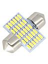 2X-Festoon-31MM-30-SMD-3014-White-LED-Car-Dome-Light-lamp-Bulbs-3021-6428-DE3175 12-24V