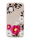 Pour iphone 7 plus / iphone 7 cas en arriere-cas etui de couverture dans le tpu doux de la fleur foncee pour Apple iphone 6 plus / iphone