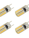 3W Двухштырьковые LED лампы T 64 SMD 3014 260 lm Тёплый белый Холодный белый V 4 шт.