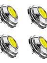 2W G4 Точечное LED освещение 1 COB 180 lm Тёплый белый / Холодный белый / Естественный белый Регулируемая DC 12 V 4 шт.